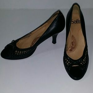 Sofft Brand Black Leather Pumps Sz 8M Gently Worn